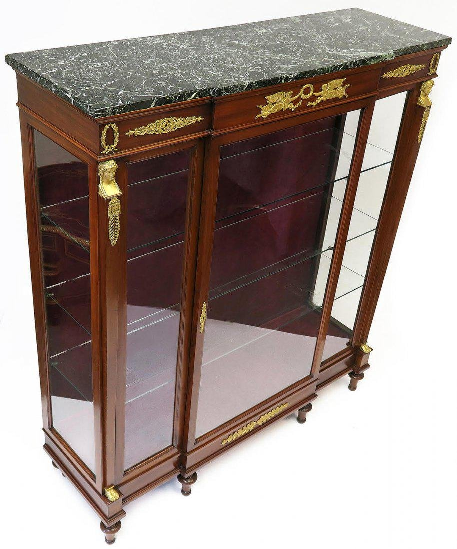 19th C. French Empire Style Vitrine Cabinet - 3