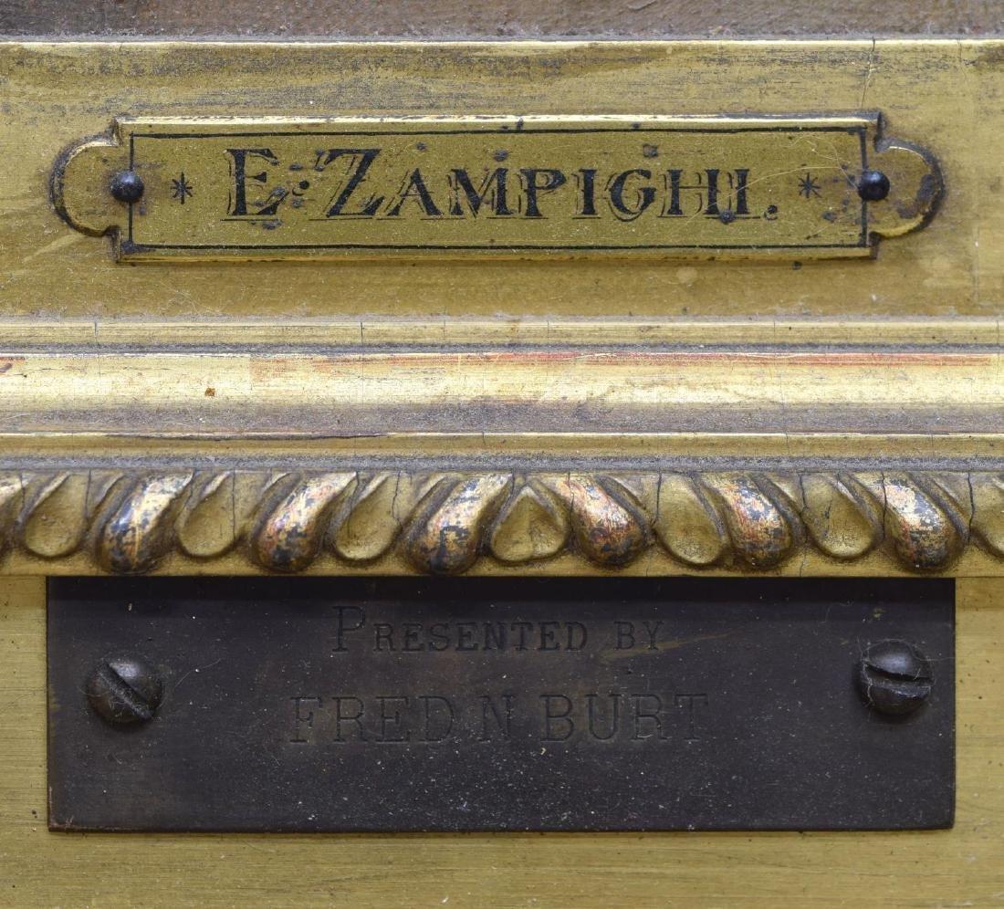 EUGENIO ZAMPIGHI (1859-1944) OLD COUPLE PAINTING - 4