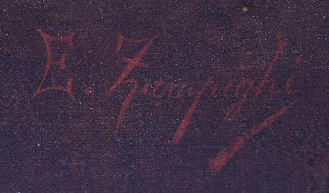 EUGENIO ZAMPIGHI (1859-1944) OLD COUPLE PAINTING - 5