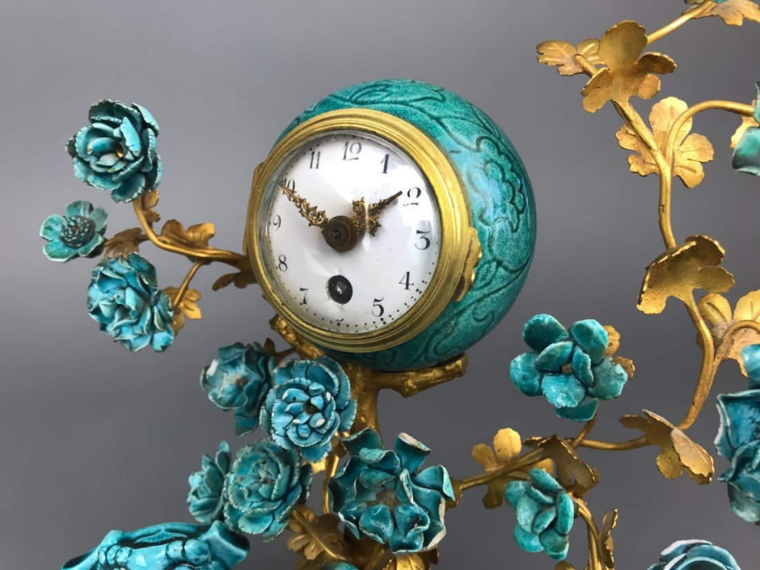 19th C. French Gilt Bronze & Chinese Porcelain Clock - 9