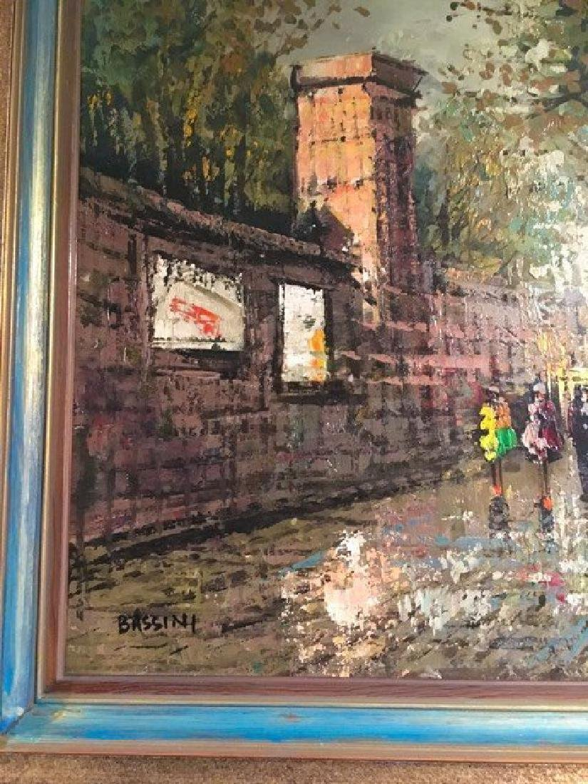 """""""Bassini"""" Oil on Canvas Painting, Signed! - 2"""