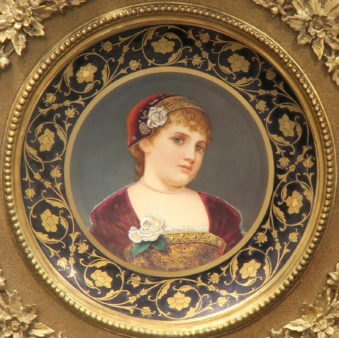 Large 19th C. Royal Vienna Hand Painted Framed Plate - 2