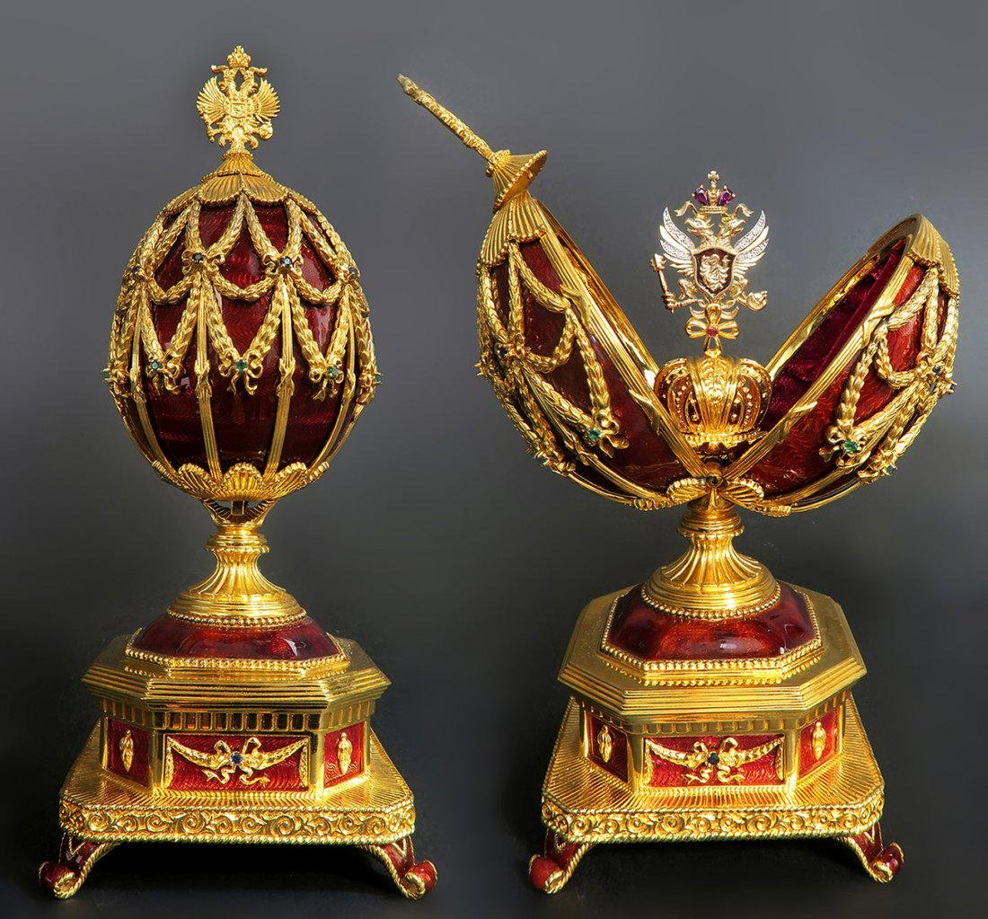 Faberge Imperial Jeweled Musical Egg, 150th Anniversary - 2