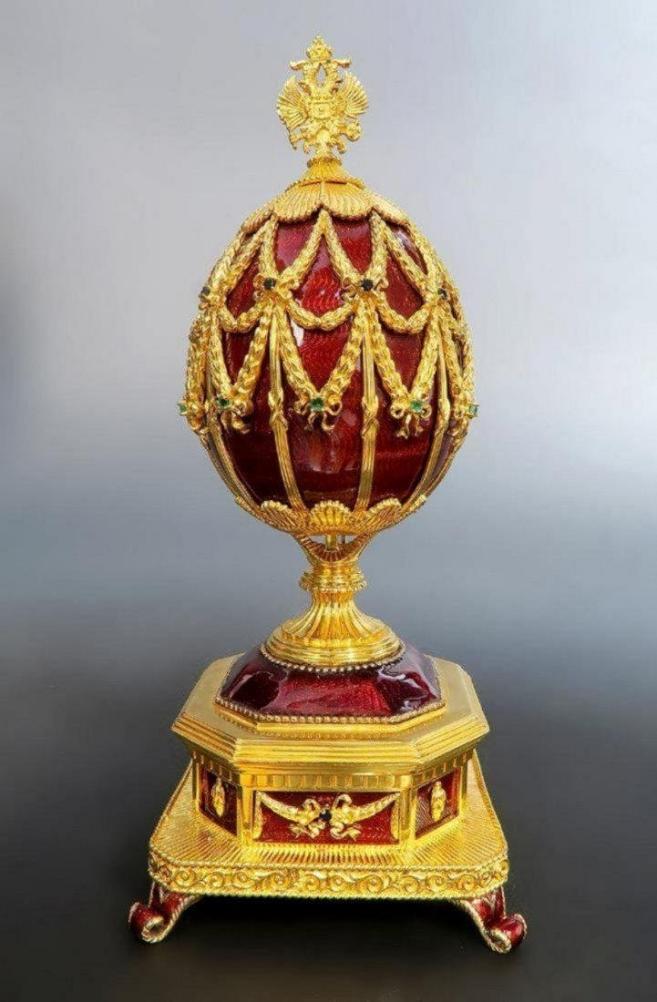 Faberge Imperial Jeweled Musical Egg, 150th Anniversary - 3