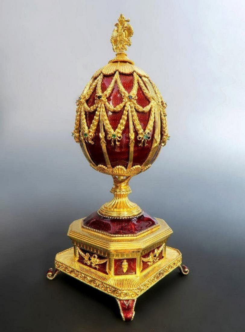 Faberge Imperial Jeweled Musical Egg, 150th Anniversary - 4