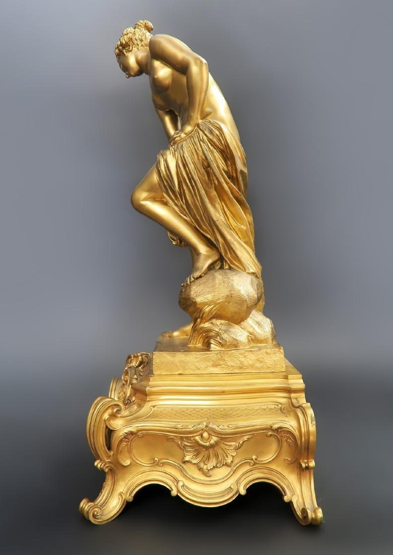 "French ""F. Barbedienne"" Figural Bronze Clock Set - 4"