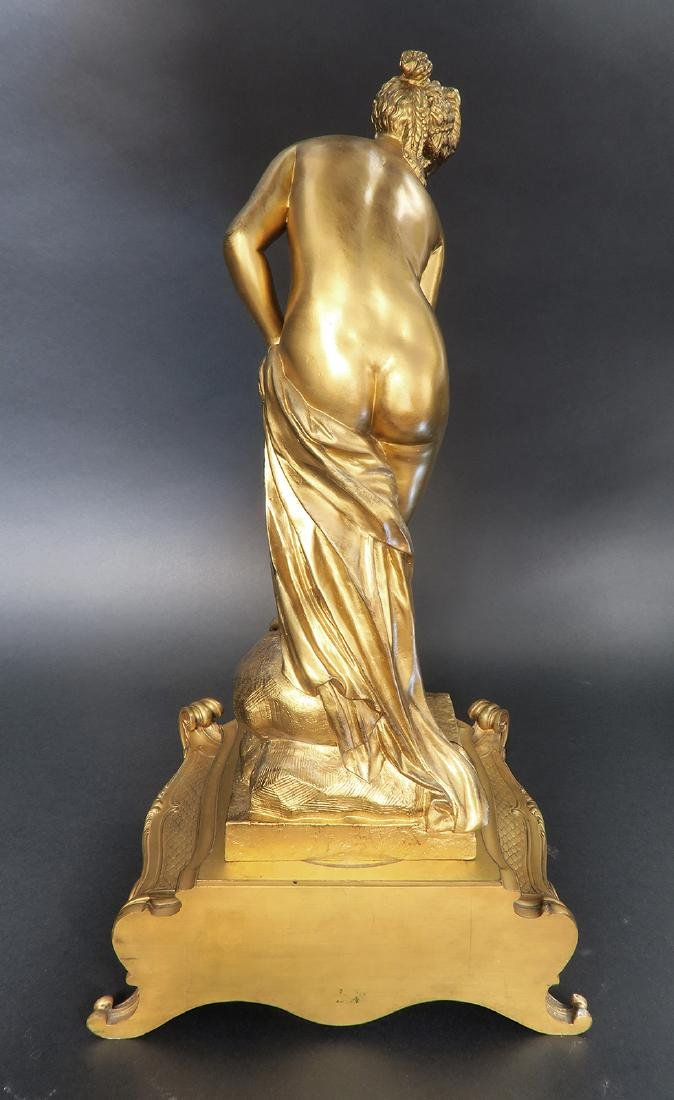 "French ""F. Barbedienne"" Figural Bronze Clock Set - 6"