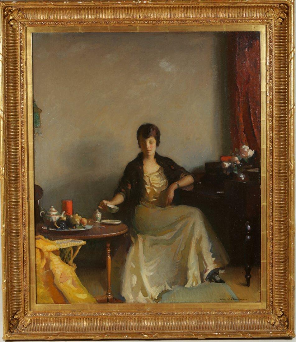 "Leslie Prince Thompson's ""Cup of Tea"" Oil On Canvas"