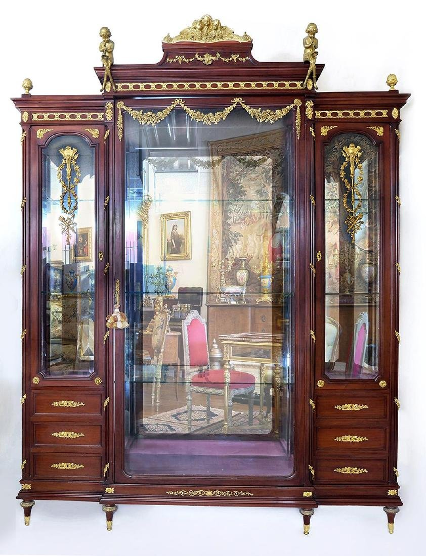 """F. Linke"" Kingwood Bronze Mounted Vitrine Cabinet"