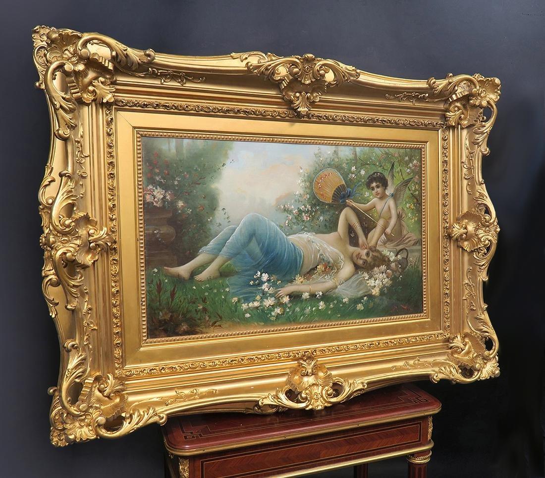 "19th C. Oil on Canvas Attributed to ""Zatzka"""