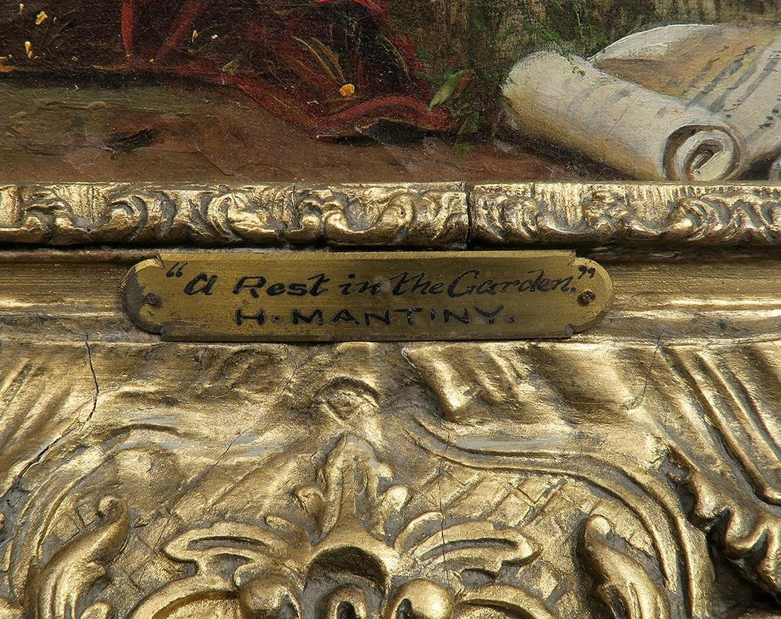 19th C. French Painting (Signed H Mantiny) - 3