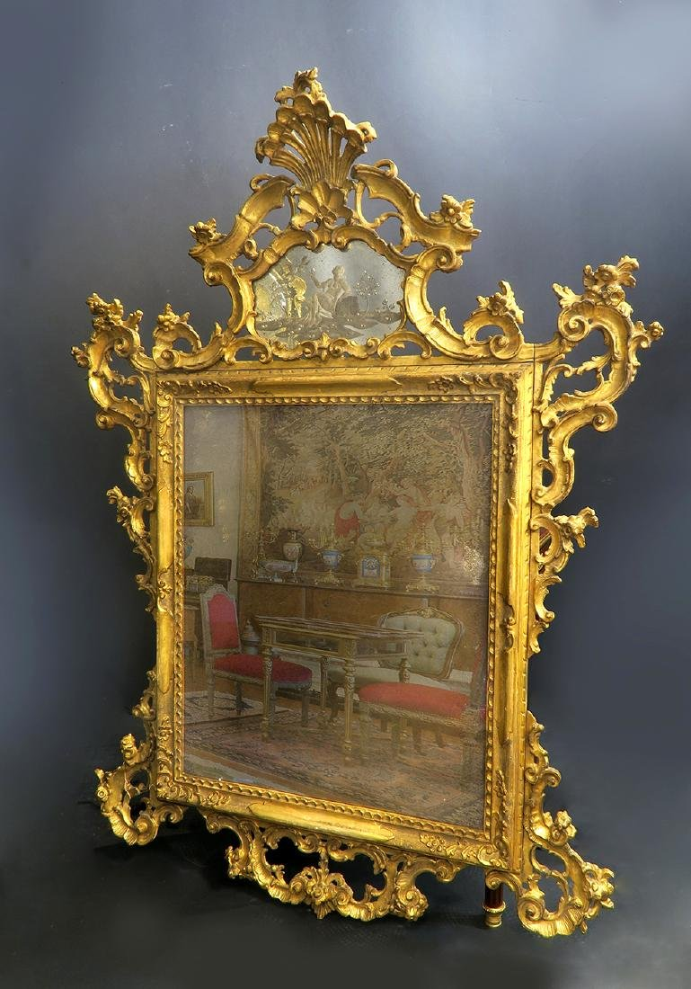An Old Palatial Hand-carved Venetian Mirror - 2