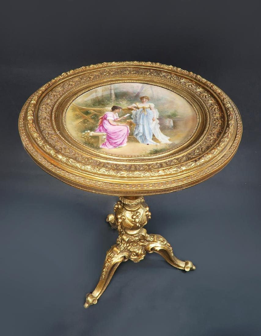 Magnificent Hand Painted Royal Vienna Side Table - 2