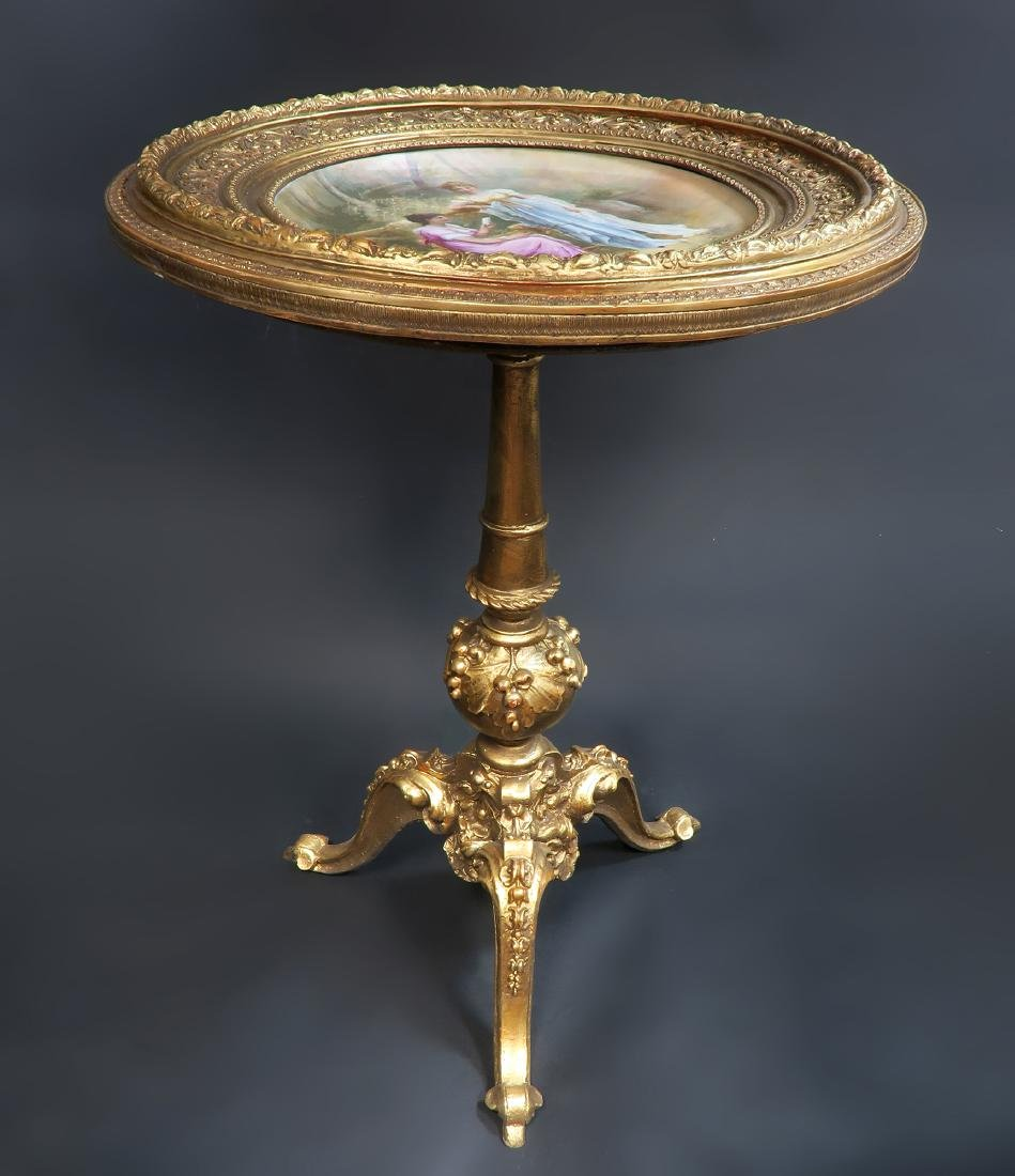 Magnificent Hand Painted Royal Vienna Side Table - 3