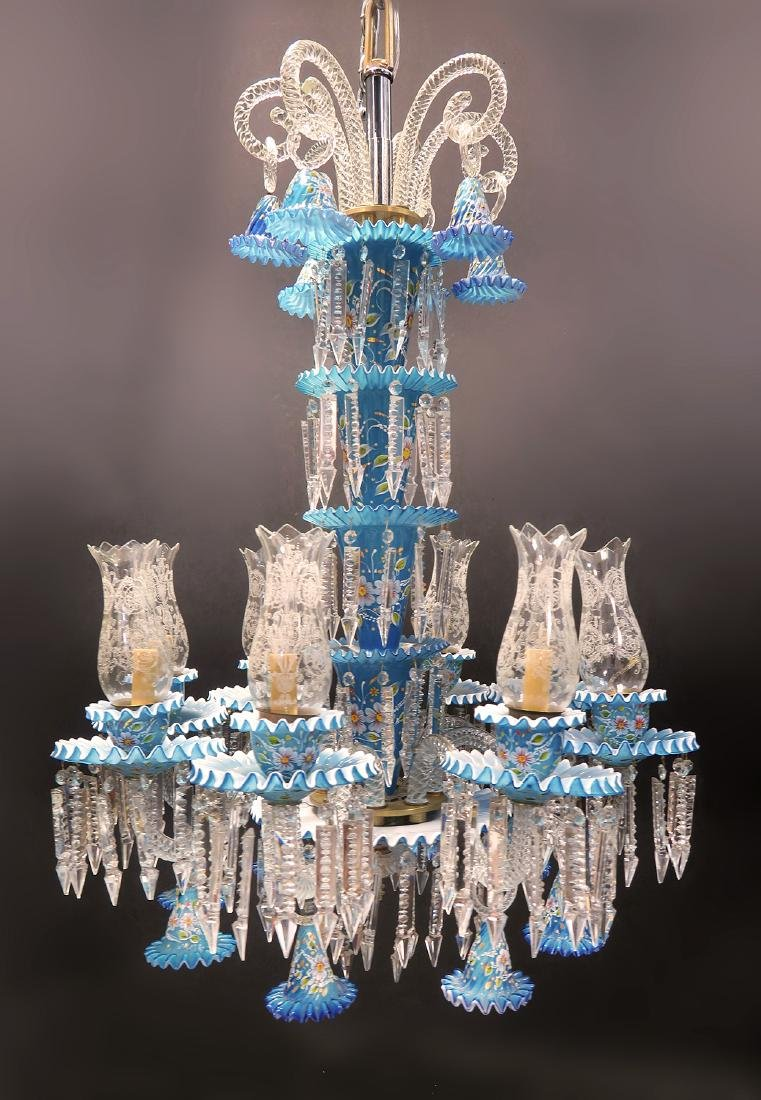 A Baccarat Style 8 Branch Chandelier