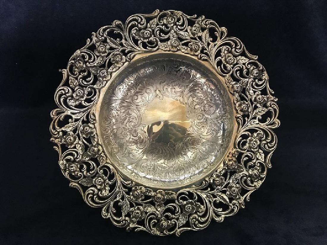 Stunning Sterling Silver Centerpiece - 4