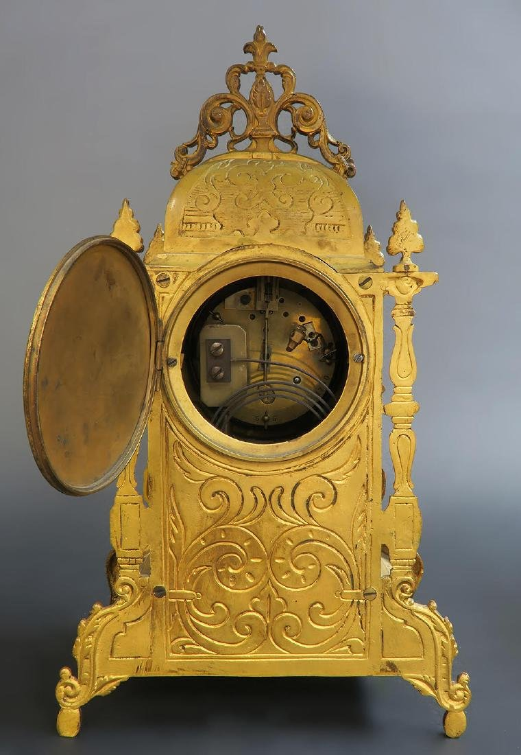 French Bronze & Sevres Porcelain Clock Set - 6