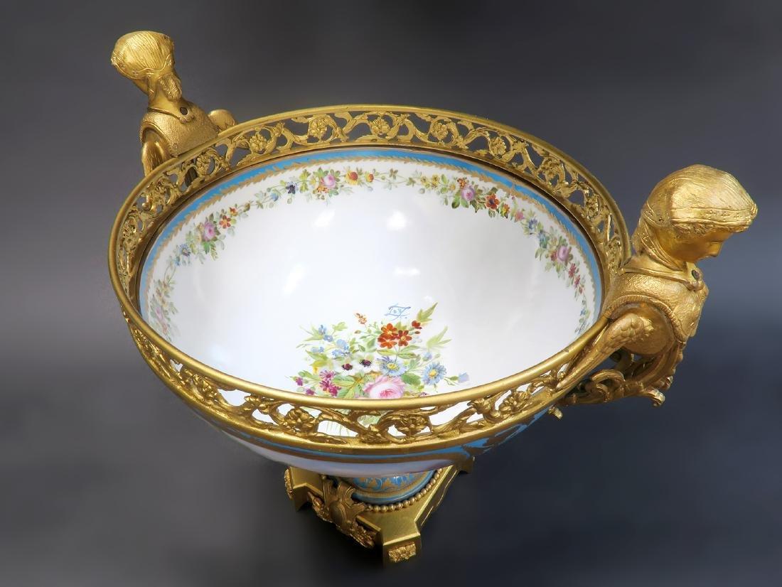 19th C. Large French Sevres Garniture Set - 6