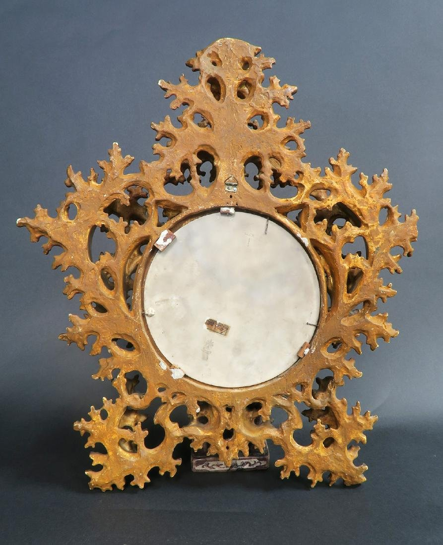 19th C. Wooden Rococo Frame With Berlin KPM Plaque - 2