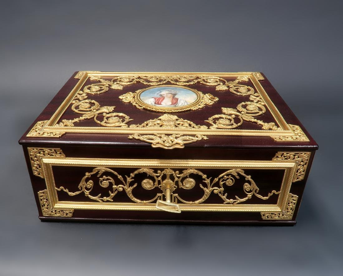 "Large Jewelry Box Signed ""Fichet"" a Paris. 19th C. - 2"