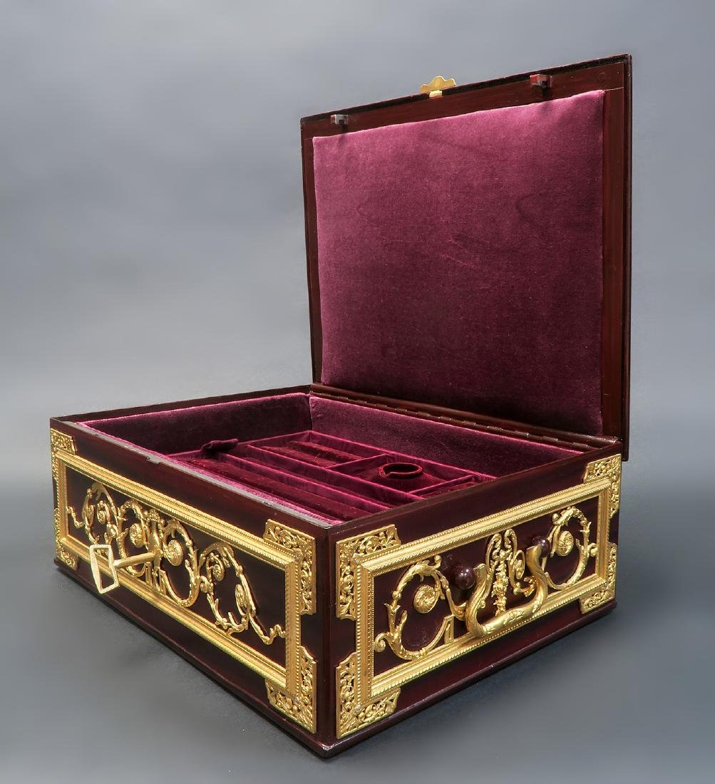 "Large Jewelry Box Signed ""Fichet"" a Paris. 19th C. - 3"