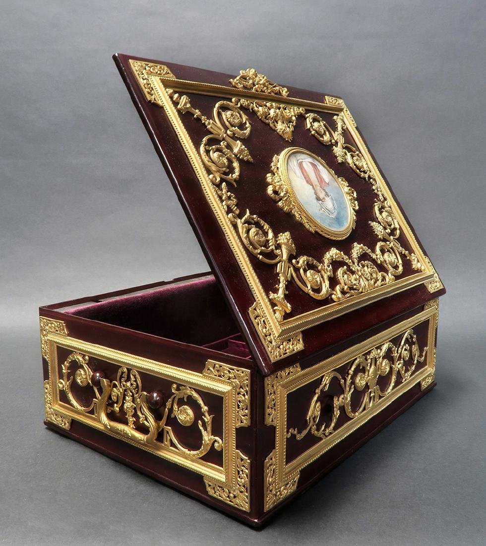 "Large Jewelry Box Signed ""Fichet"" a Paris. 19th C. - 4"