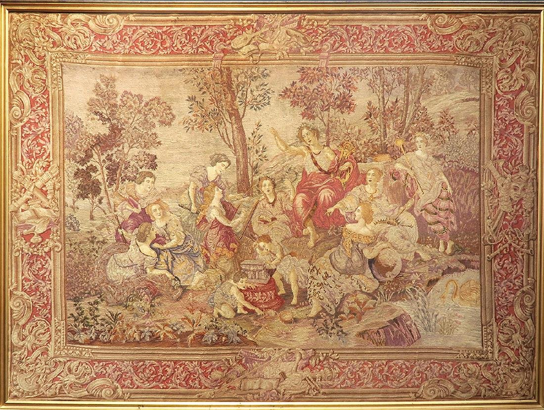 19th C. Large Fine Hand Made French Tapestry