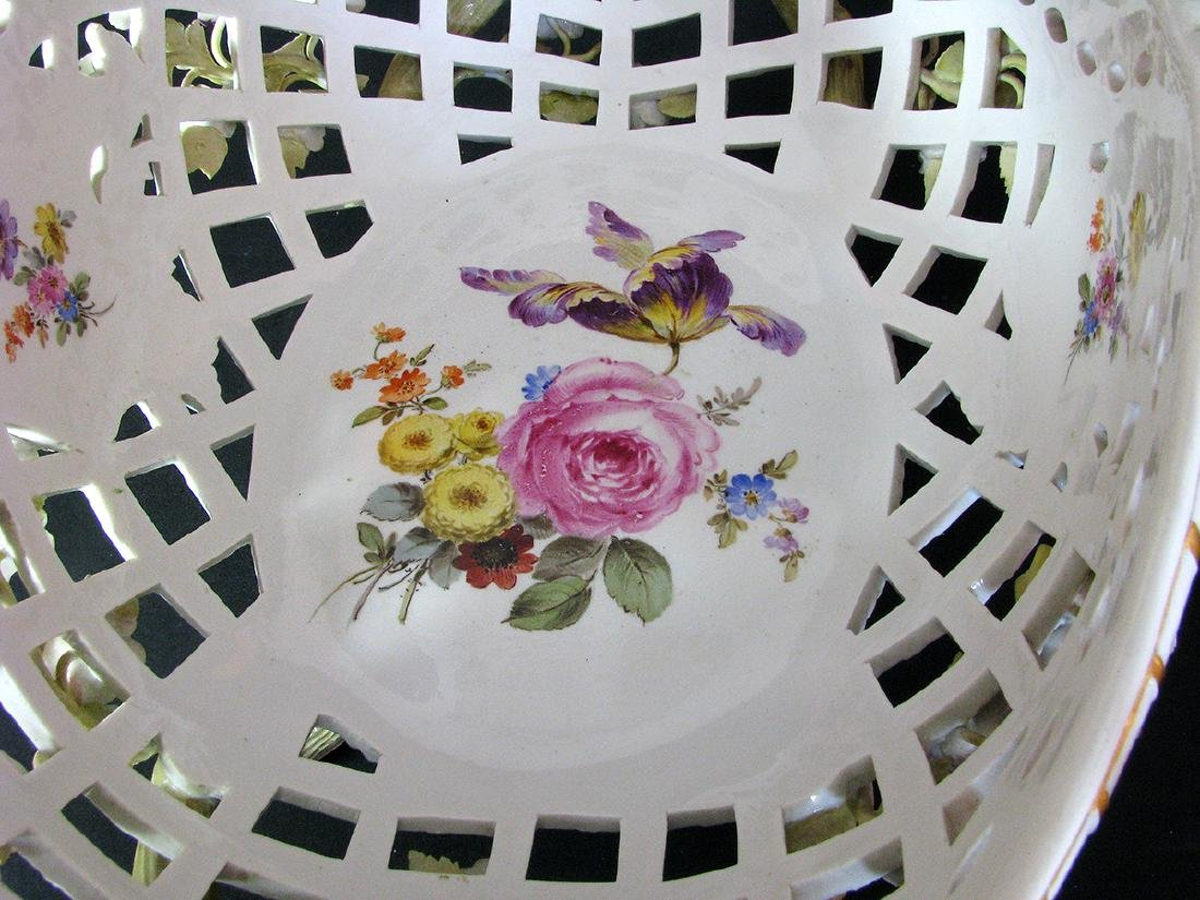 A Fine 19th C. Meissen Raised Flowers Centerpiece - 3