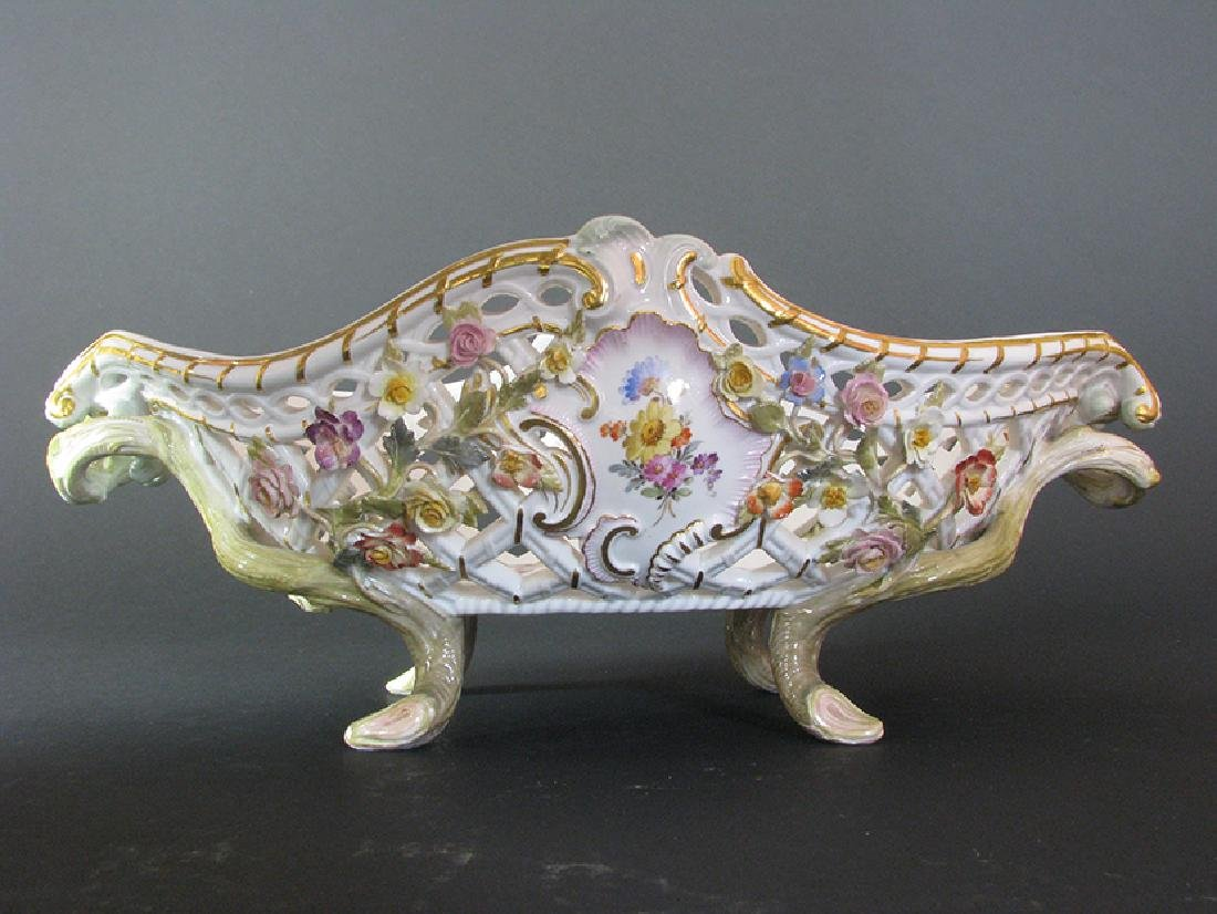 A Fine 19th C. Meissen Raised Flowers Centerpiece - 5