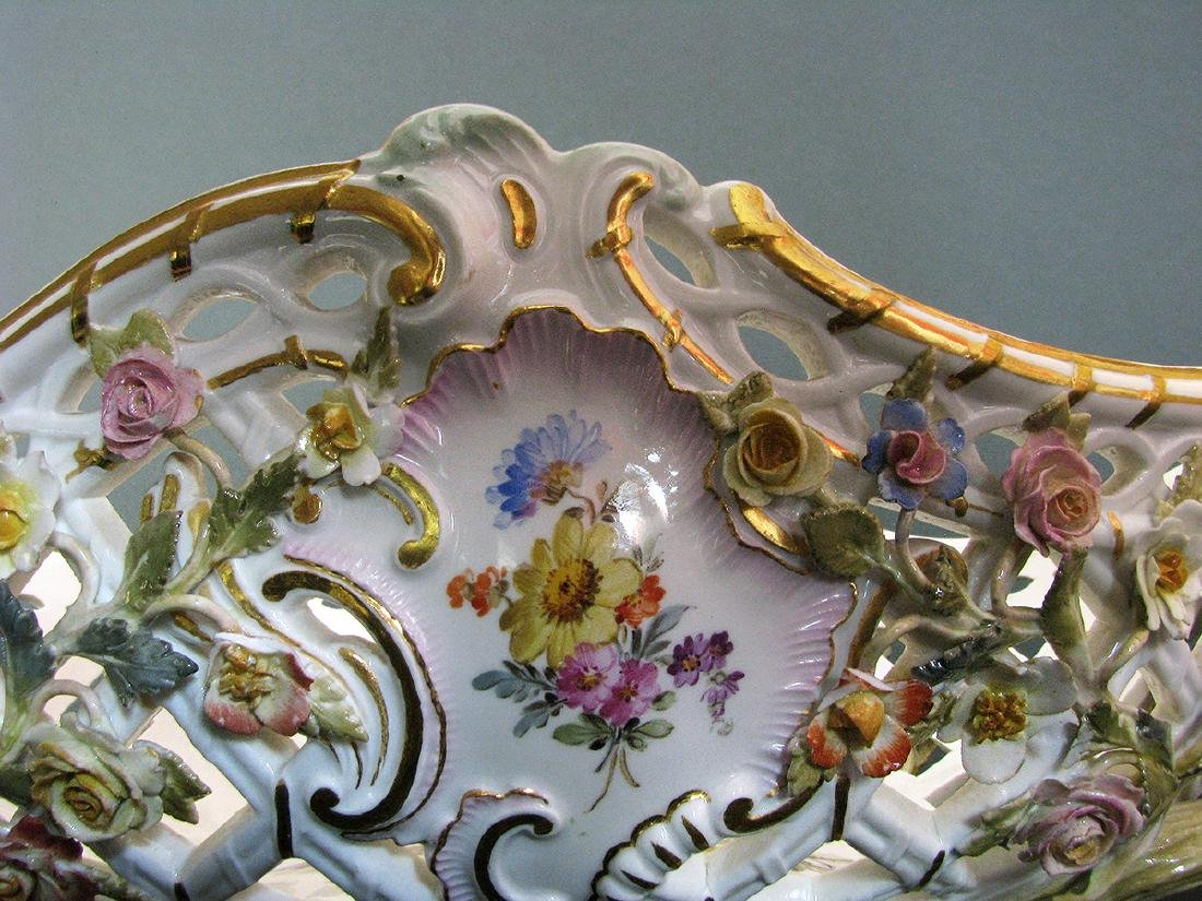 A Fine 19th C. Meissen Raised Flowers Centerpiece - 6