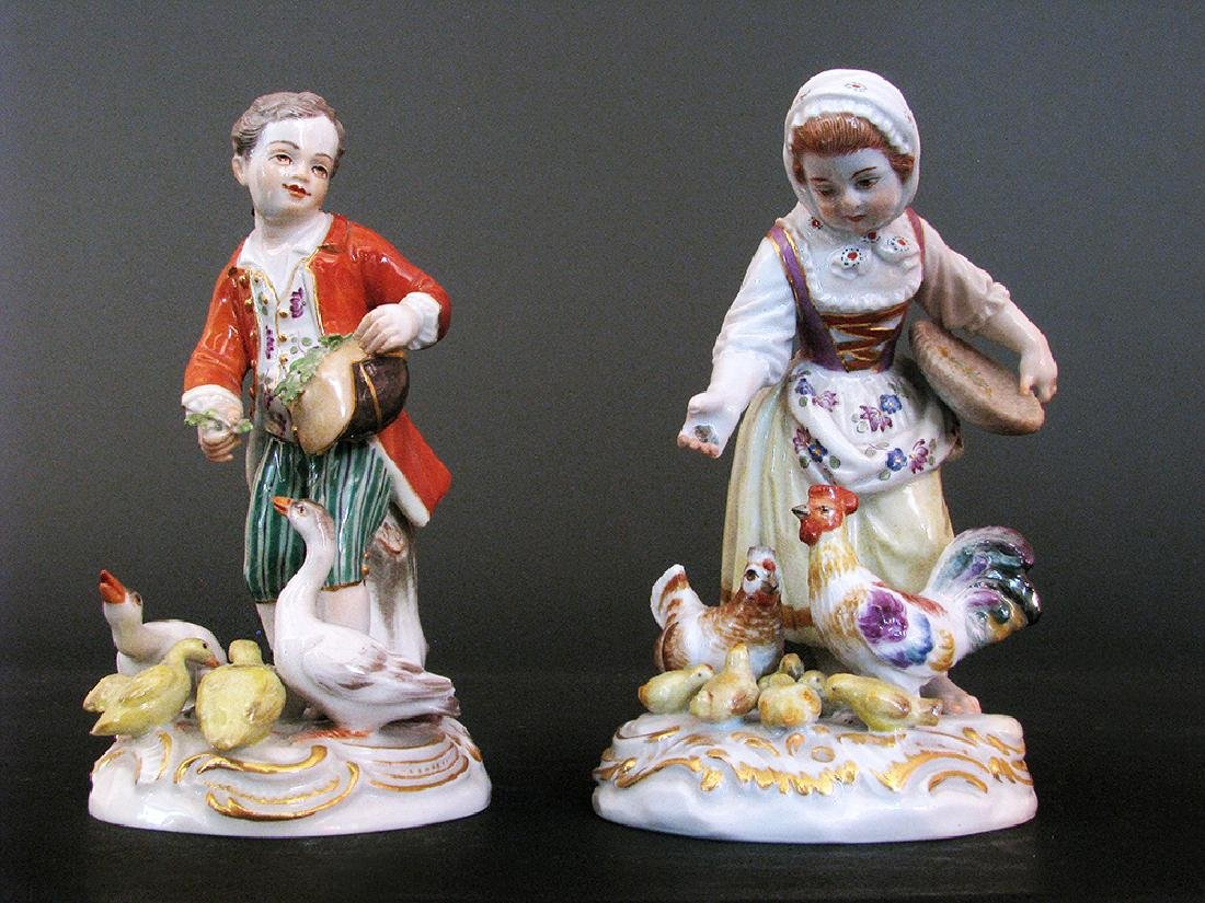 A Pair of 19th C. Meissen Figurines