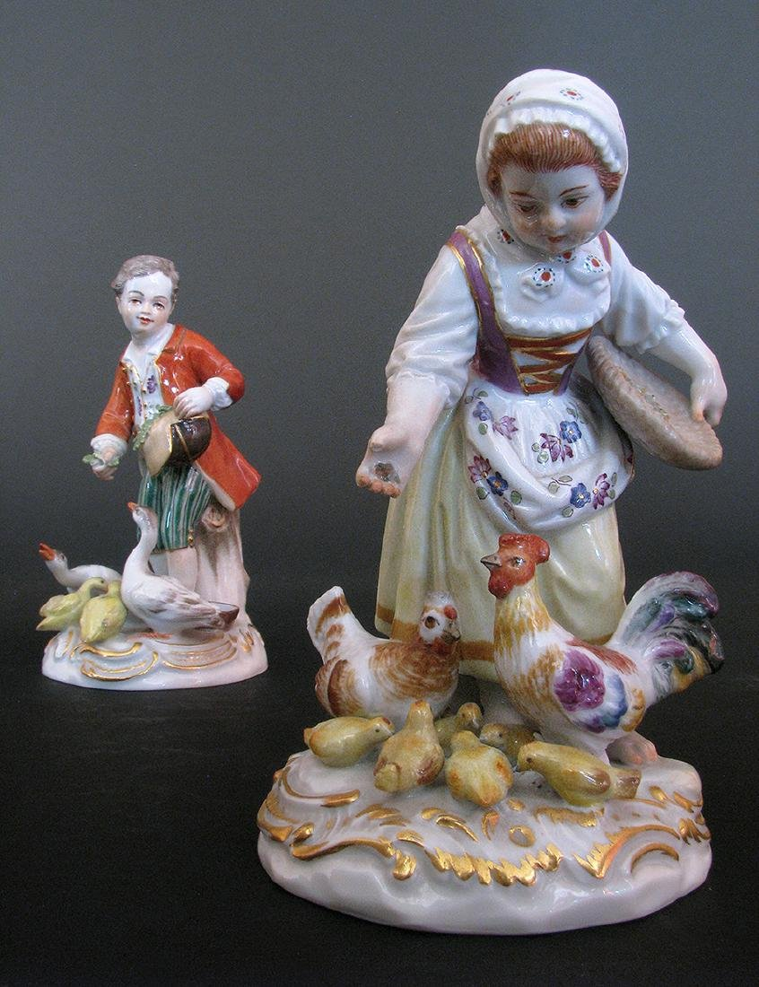 A Pair of 19th C. Meissen Figurines - 2