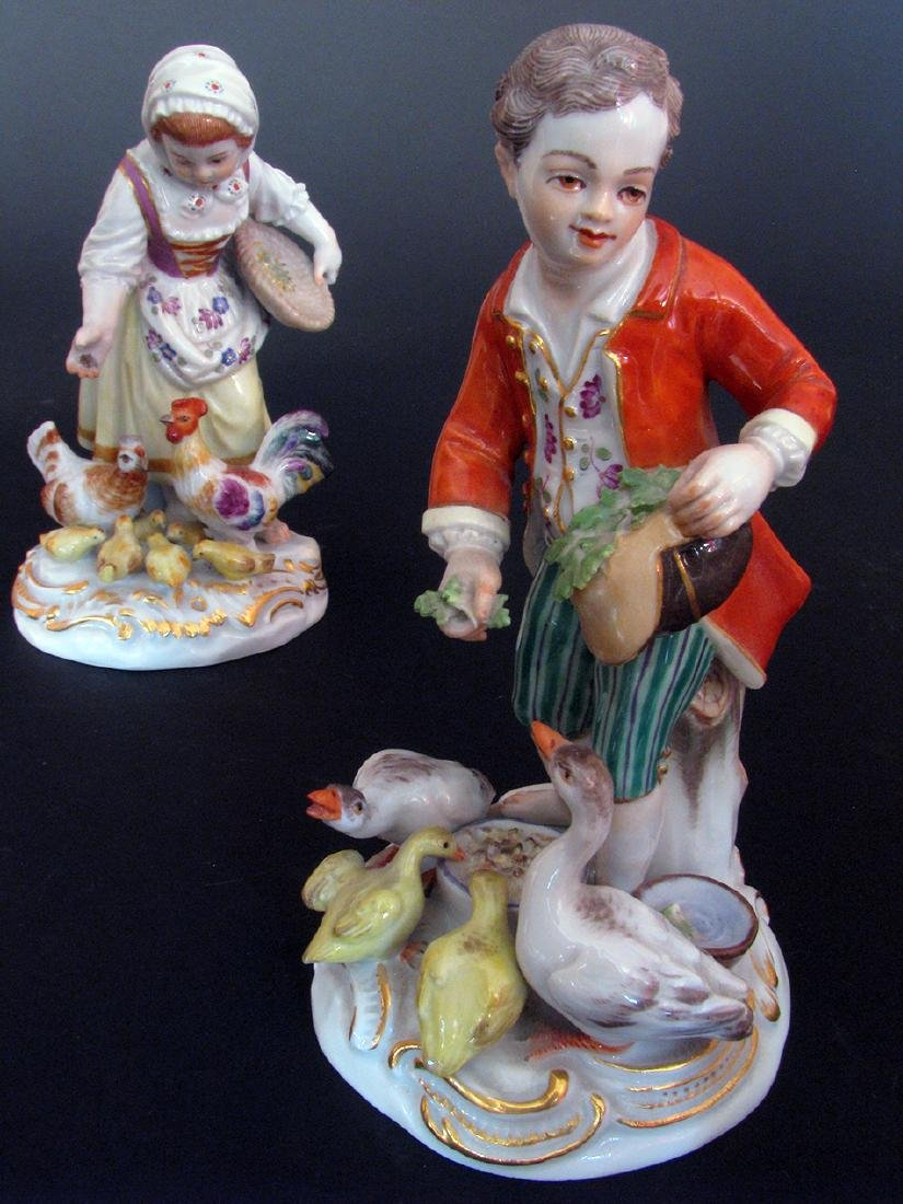 A Pair of 19th C. Meissen Figurines - 4