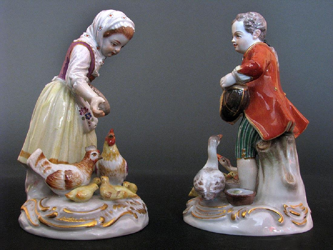 A Pair of 19th C. Meissen Figurines - 5