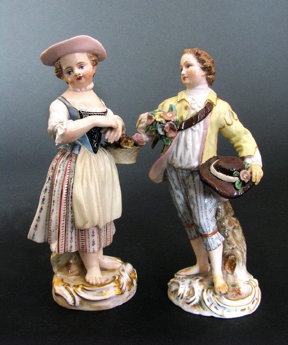A Pair of Meissen Figurines, 19th Century