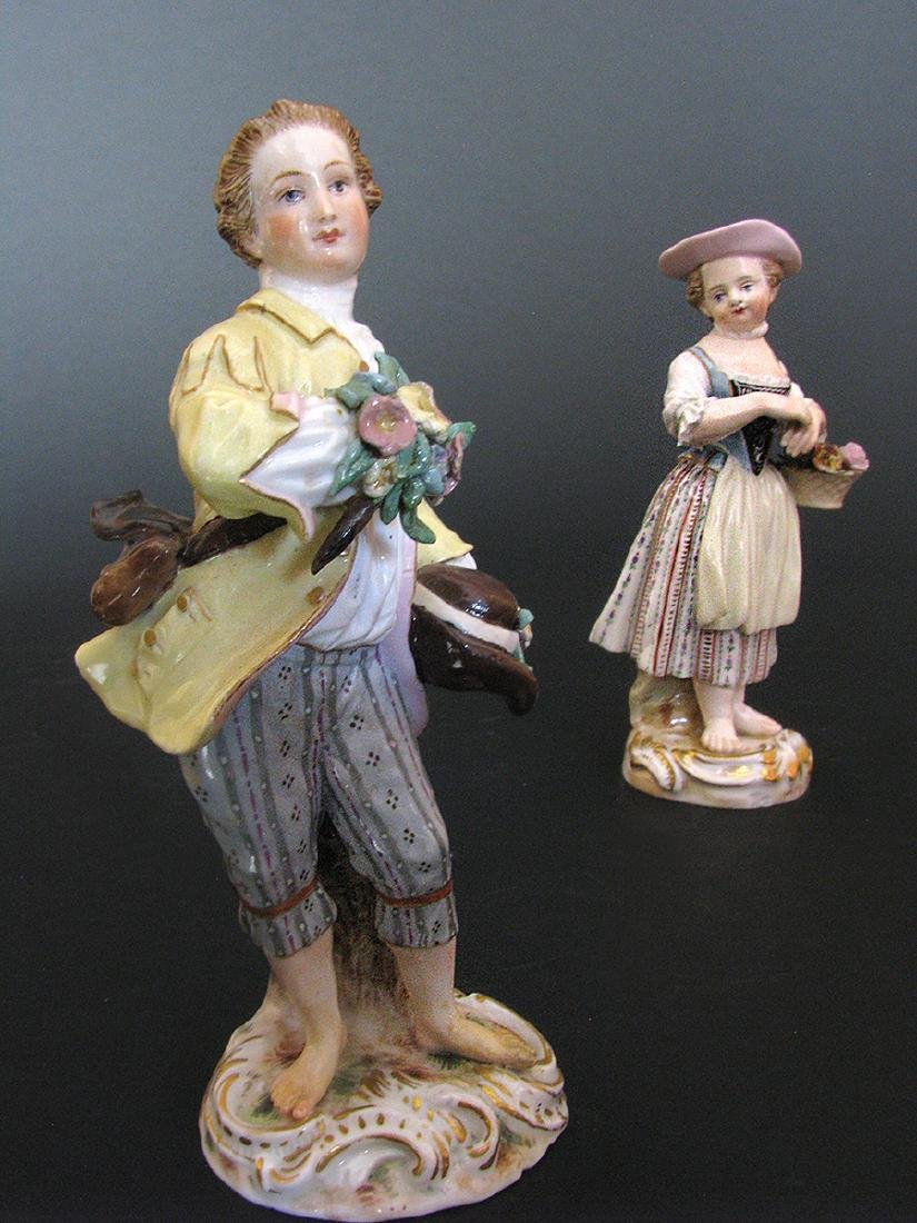 A Pair of Meissen Figurines, 19th Century - 3
