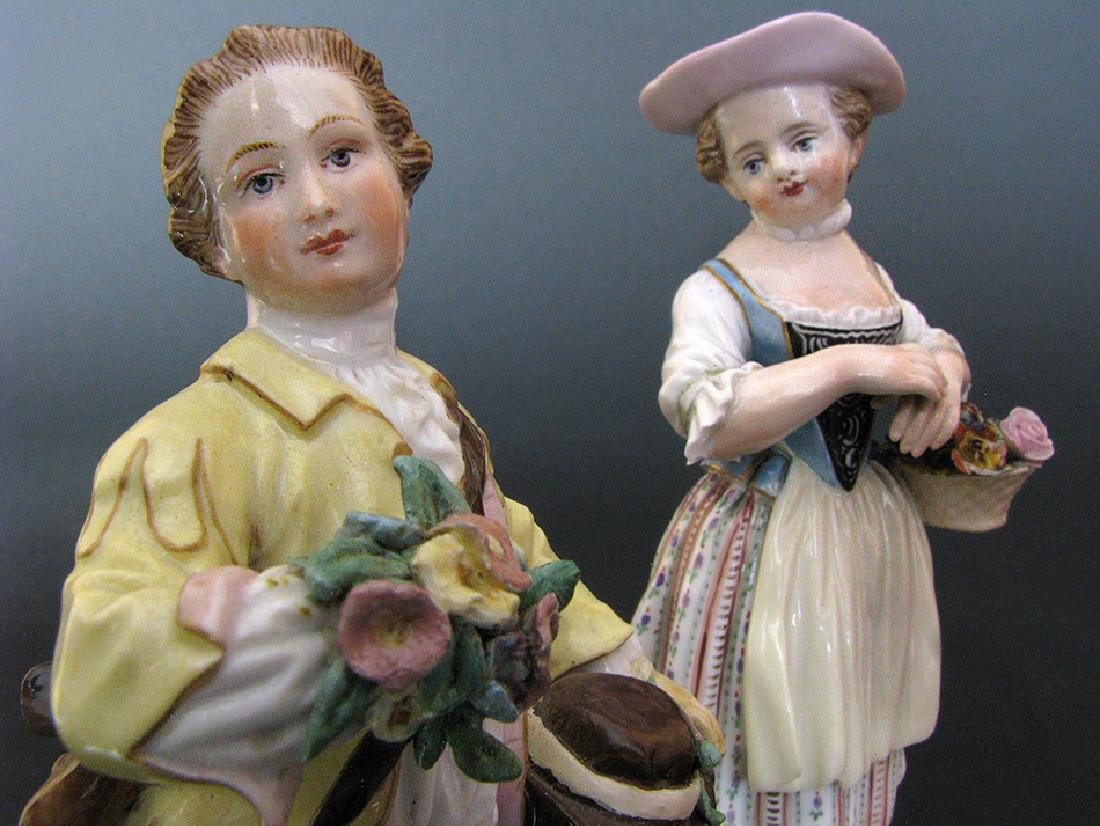 A Pair of Meissen Figurines, 19th Century - 5