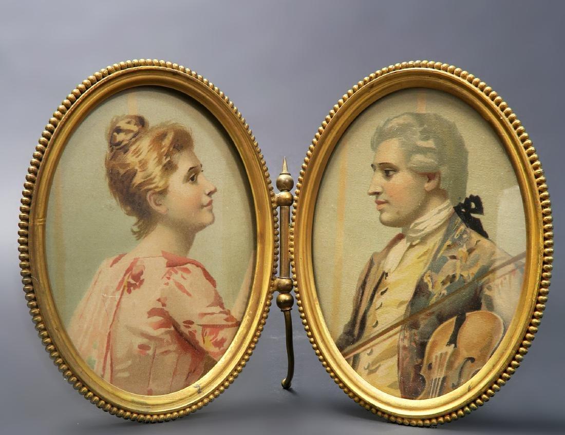 John Wanamaker Victorian Double Bronze Frame