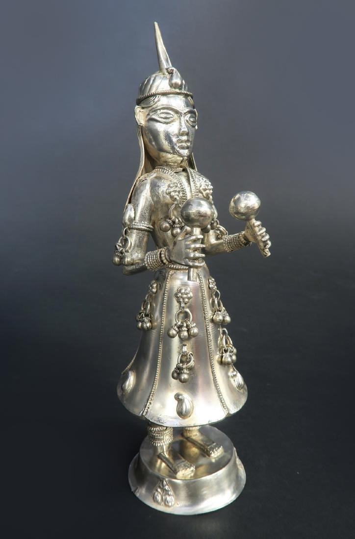 Set of Five Hindu Musician Silver Figurines - 6