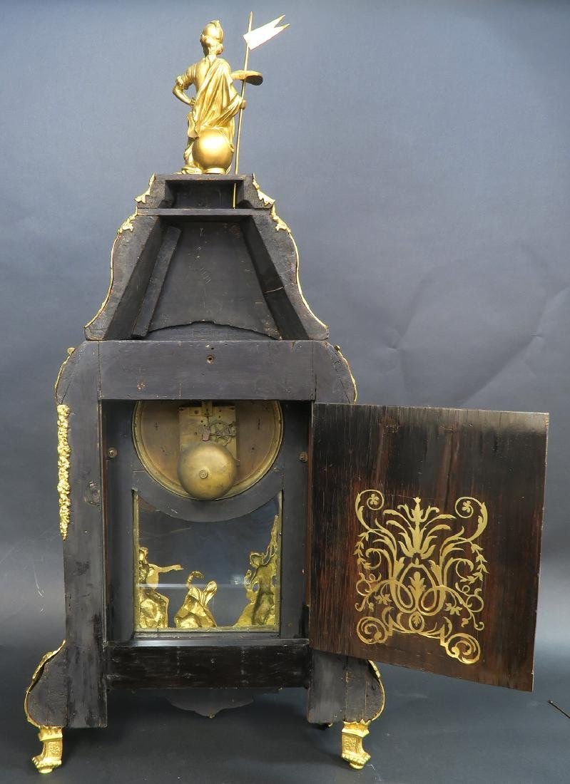 Monumental French Boulle & Figural Bronze Clock - 5