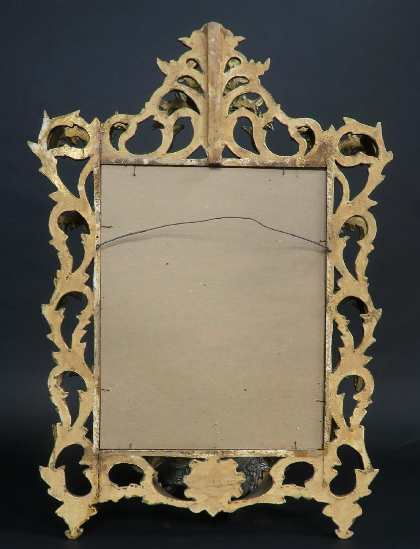 French Wooden Gold Leaf Rococo Style Mirror - 3