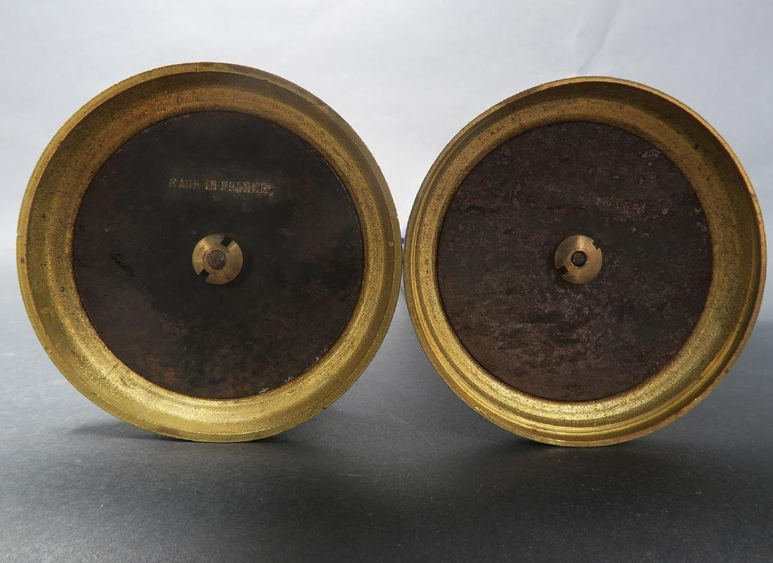 A Pair of Sevres Paul Milet Bronze/Flambe Glaze Vases - 4