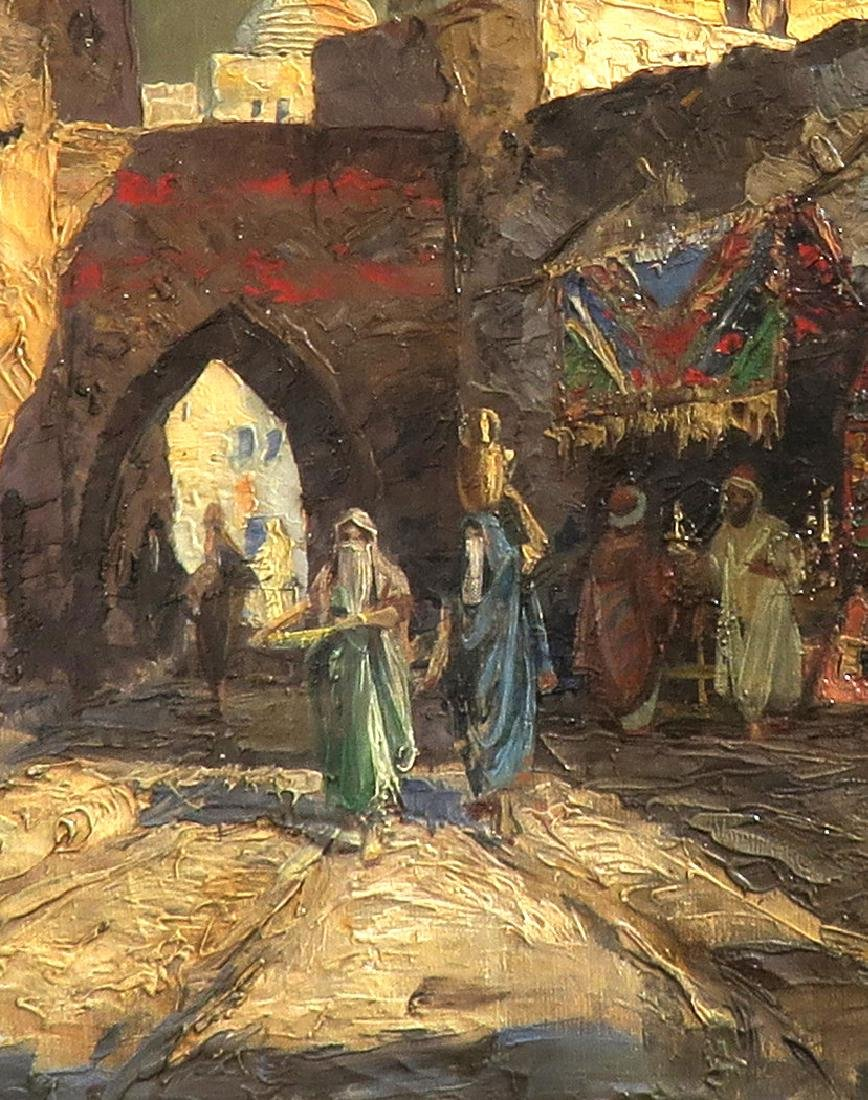 """Oil On Canvas Orientalist Painting By """"H.Pizzaro"""" - 3"""