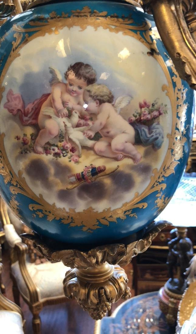An Exceptional Castle Sevres Louis XV Style Chandelier - 5