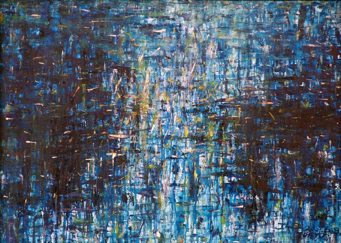 "Oriental Lake No. 2 Oil on Canvas By ""Yurika"""