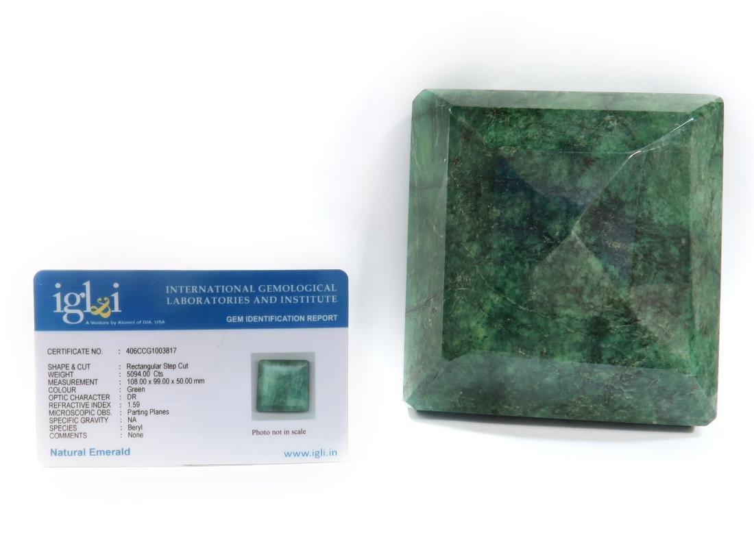 5094 Cts  Rectangular Step Cut Natural Emerald