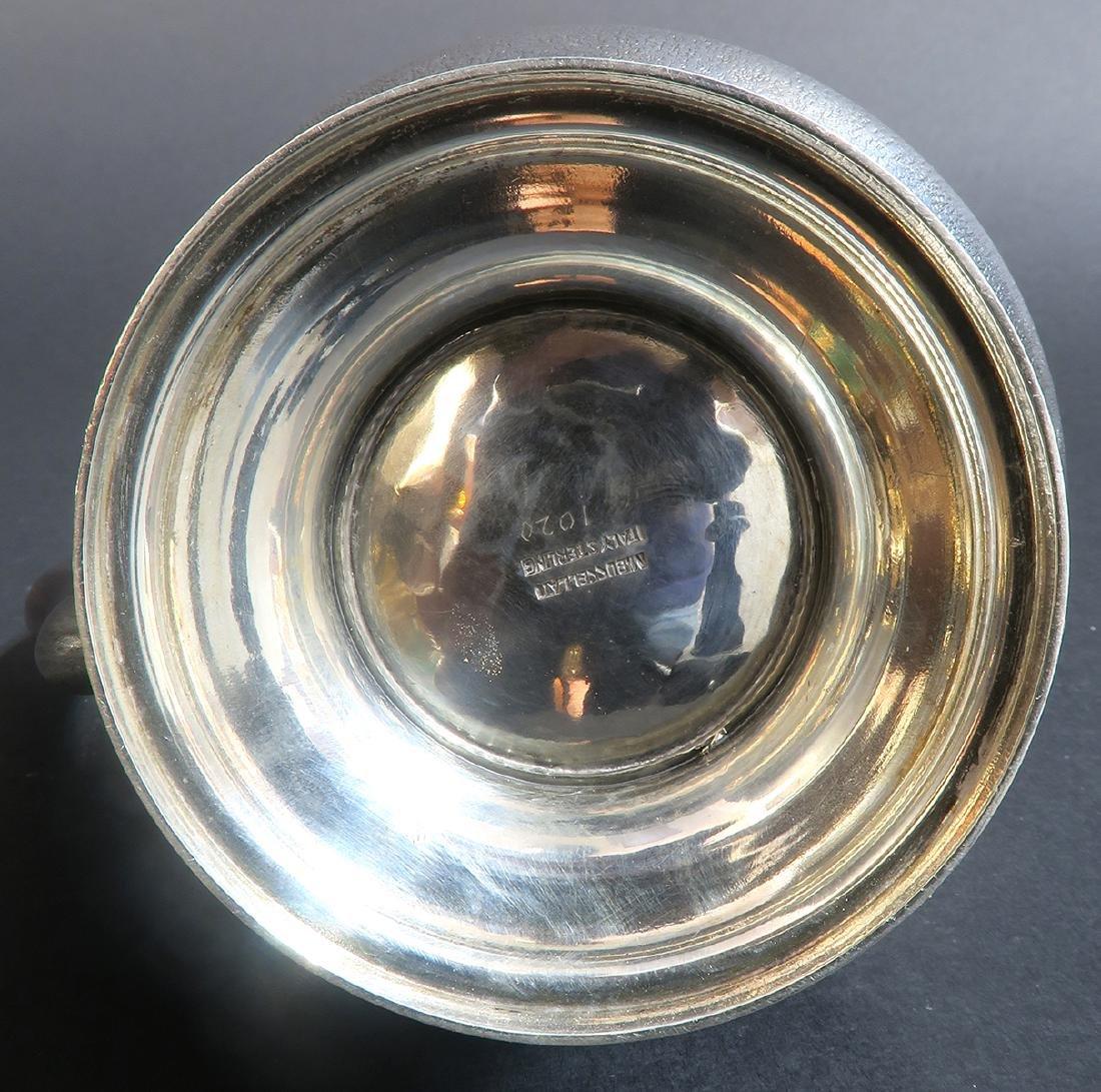 "Sterling Silver Hand Hammered \""Buccellati\"" Tea Set - 6"