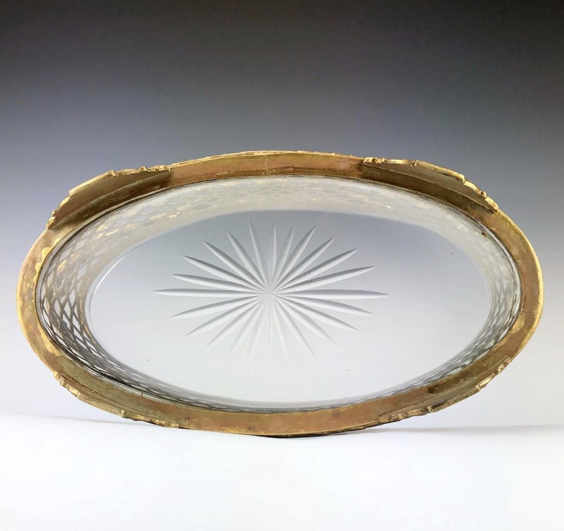 19th C. Bronze & Baccarat Crystal Basket/Centerpiece - 5