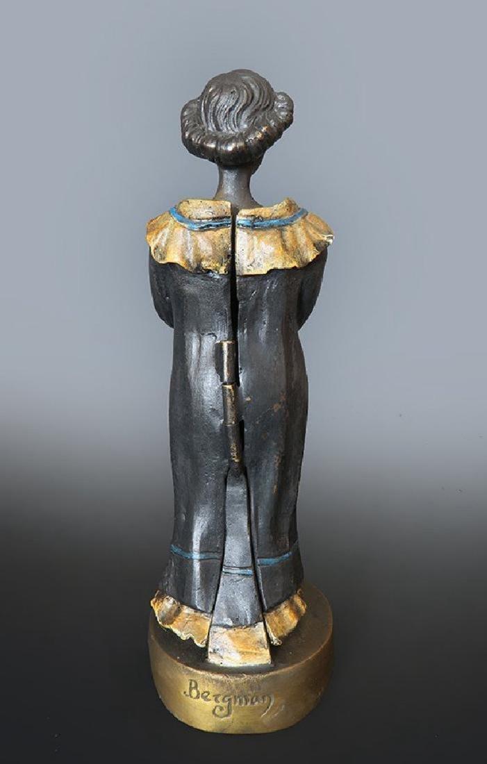 19th C. Enameled Bronze Viennese Figurine - 3