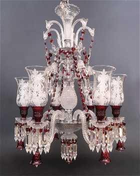Vintage baccarat chandeliers for sale antique baccarat chandeliers stunning 6 light chandelier probably baccarat zenith aloadofball Gallery
